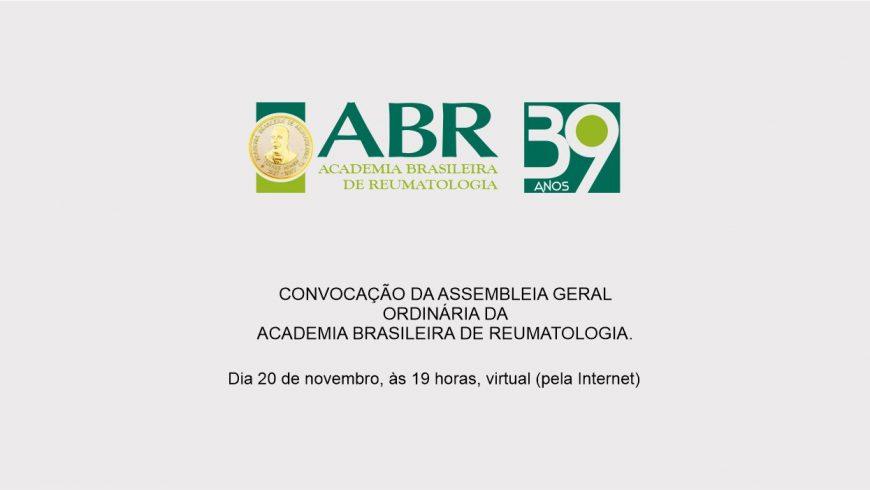 Convocação: Assembleia Geral Ordinária, 20 de novembro, 19 horas (virtual)
