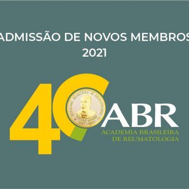 Admissão de novos membros 2021