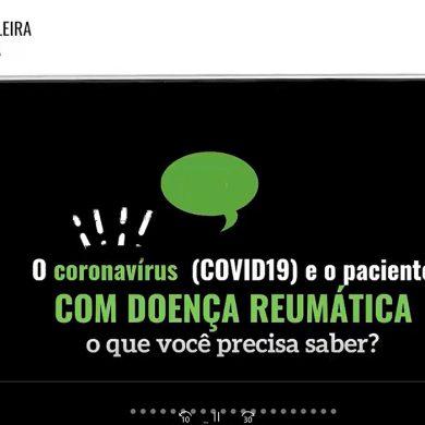Recomendações para pacientes da reumato com Covid-19