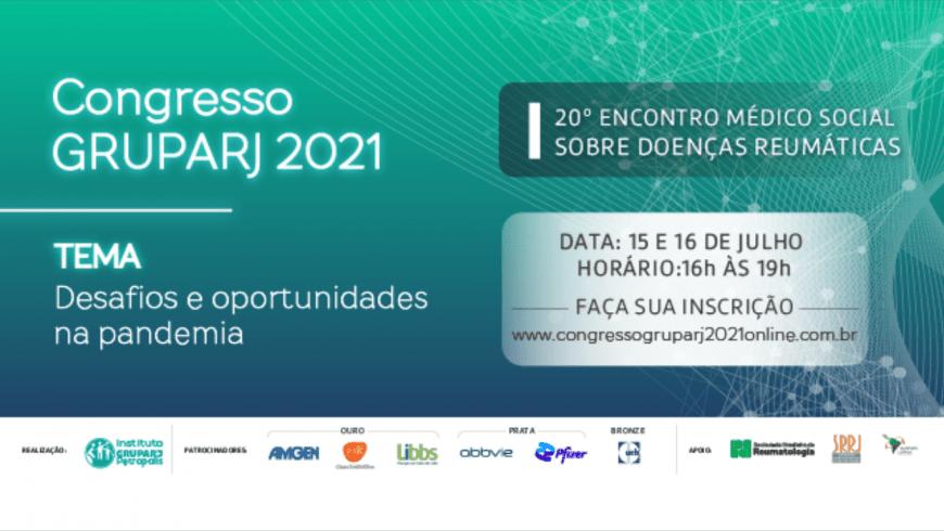 Congresso GRUPARJ2021 será realizado nos dias 15 e 16 de julho